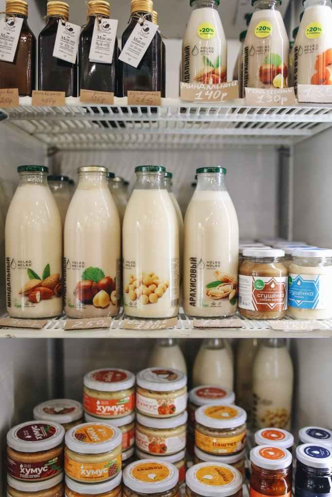 geladeira com alimentos plant based